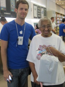 Beulah Odom with her new iPad